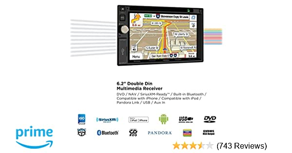 Jensen VX7020 6 2 inch LCD Multimedia Touch Screen Double Din Car Stereo  Receiver with Built-In Navigation, Bluetooth, CD/DVD Player & USB/microSD