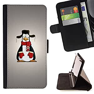 DEVIL CASE - FOR HTC Desire 820 - Funny Penguin - Style PU Leather Case Wallet Flip Stand Flap Closure Cover
