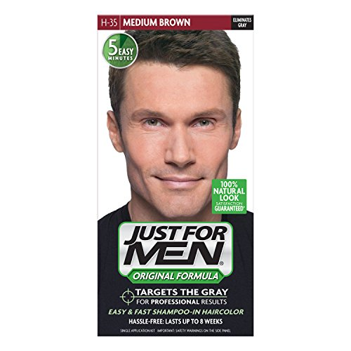 Just For Men hair color is a line of hair dyes designed with men in mind. Specifically, this product is for men who have gray hair, but wish they didn't. While normal hair dyes cover up the gray, Just For Men is not targeted at men who want a noticeable, dramatic new hair color.