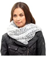WOMENS LUXURY FAUX FUR SNOOD SCARF STOLE COLLAR NECK WARMER COWL WINTER XMAS GIFT LADIES ONE SIZE