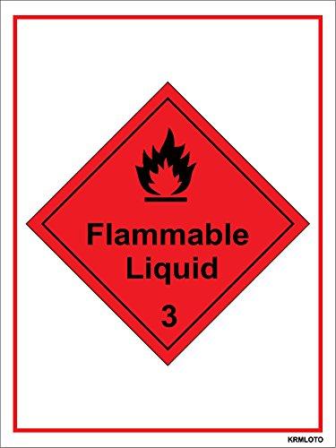 Self Adhesive Labels - Flammable Liquid (Set of 50 pcs)