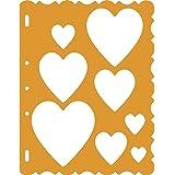 Fiskars 48557097 ShapeTemplate Tool, Hearts with Victorian Border