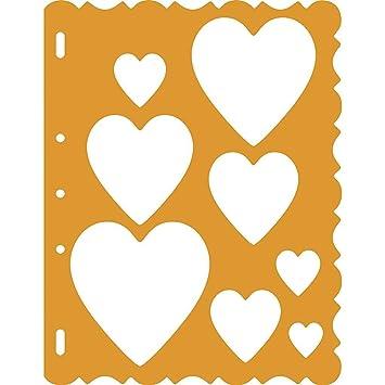 Fiskars Shape Template Corazones, Plantilla para crear corazones, 1003827: Amazon.es: Hogar
