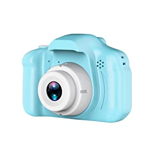 KEIBODETRD Kids Mini Fotocamera Digitale Ricaricabile 1080 HD 2 Pollici Screen Cartoon Cameras Natale Capodanno Regalo di Compleanno per Bambini, 800W Pixel
