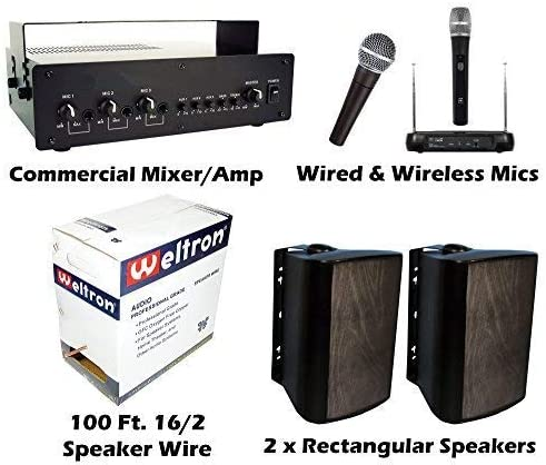 KIT Outdoor PA Sound System Bundle Baseball Field Stadium Horse Arena Easy Install Speakers Speakers White or Black- Depends on Inventory Baseball, Race Track Public Address Outdoor PA Sound System