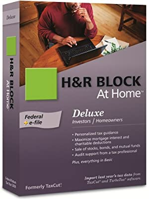 H&R Block At Home 2009 Deluxe Federal + eFile