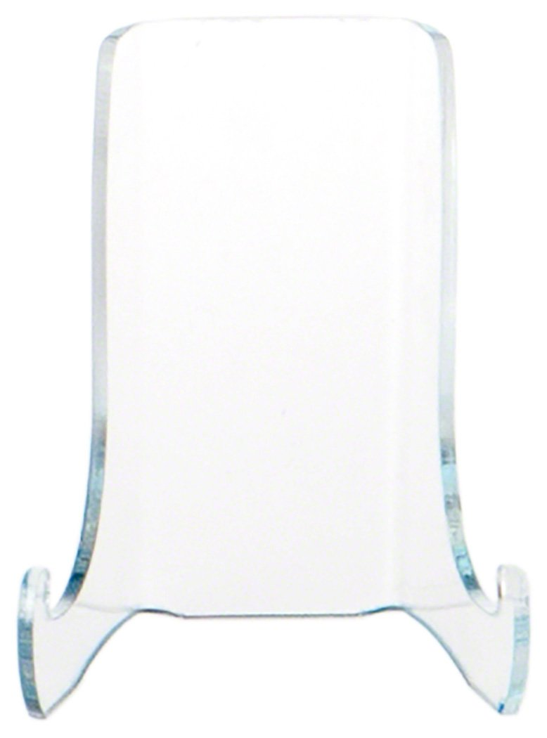 Plymor Brand Clear Acrylic Flat Back Easel with Shallow Support Ledges, 3