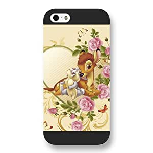 Customized Black Frosted Disney Cartoon Movie Bambi iPhone 5 5s case