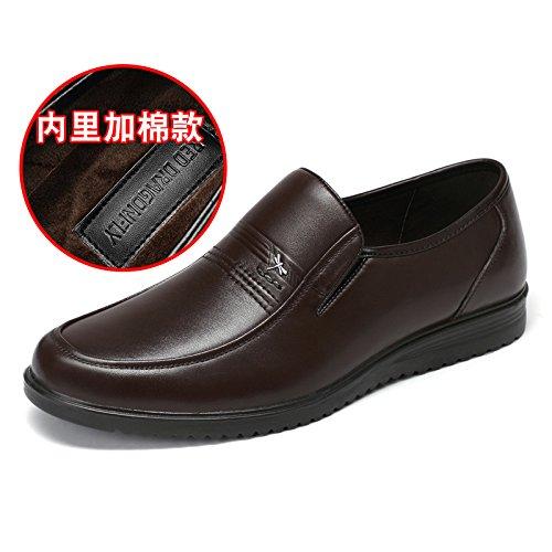 Aemember scarpe da uomo Business Casual Scarpe, Scarpe da uomo messo piede gran numero ,38, marrone