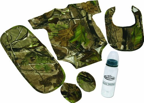 River's Edge Products 5-Piece Real Tree APG Camouflage Baby Gift Set For The Littlest of Outdoor Lovers
