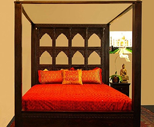 Devi Canopy Bed by Worldcraft Industries, Queen