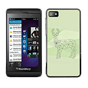 TopCaseStore / la caja del caucho duro de la cubierta de protección de la piel - Finland Arctic Deer Antler Green - Blackberry Z10