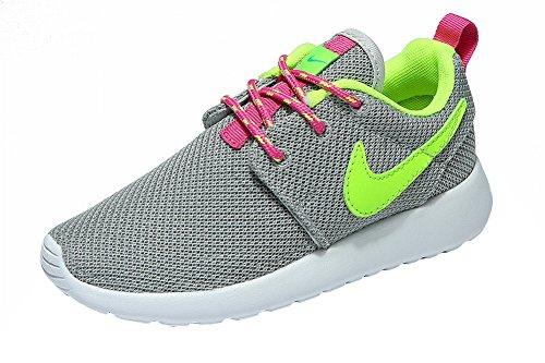 Roshe Run (GS) permeabilidad de malla superior elegante simplicidad Kids zapatos, Niños, gris, UK10.5=EUR28=18CM