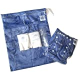 Piddly-Winx 'My First Jeans' Bamboo Gift Pack - Bamboo Diaper, Hemp Bamboo Insert, Wet Bag, and Bamboo Wipes