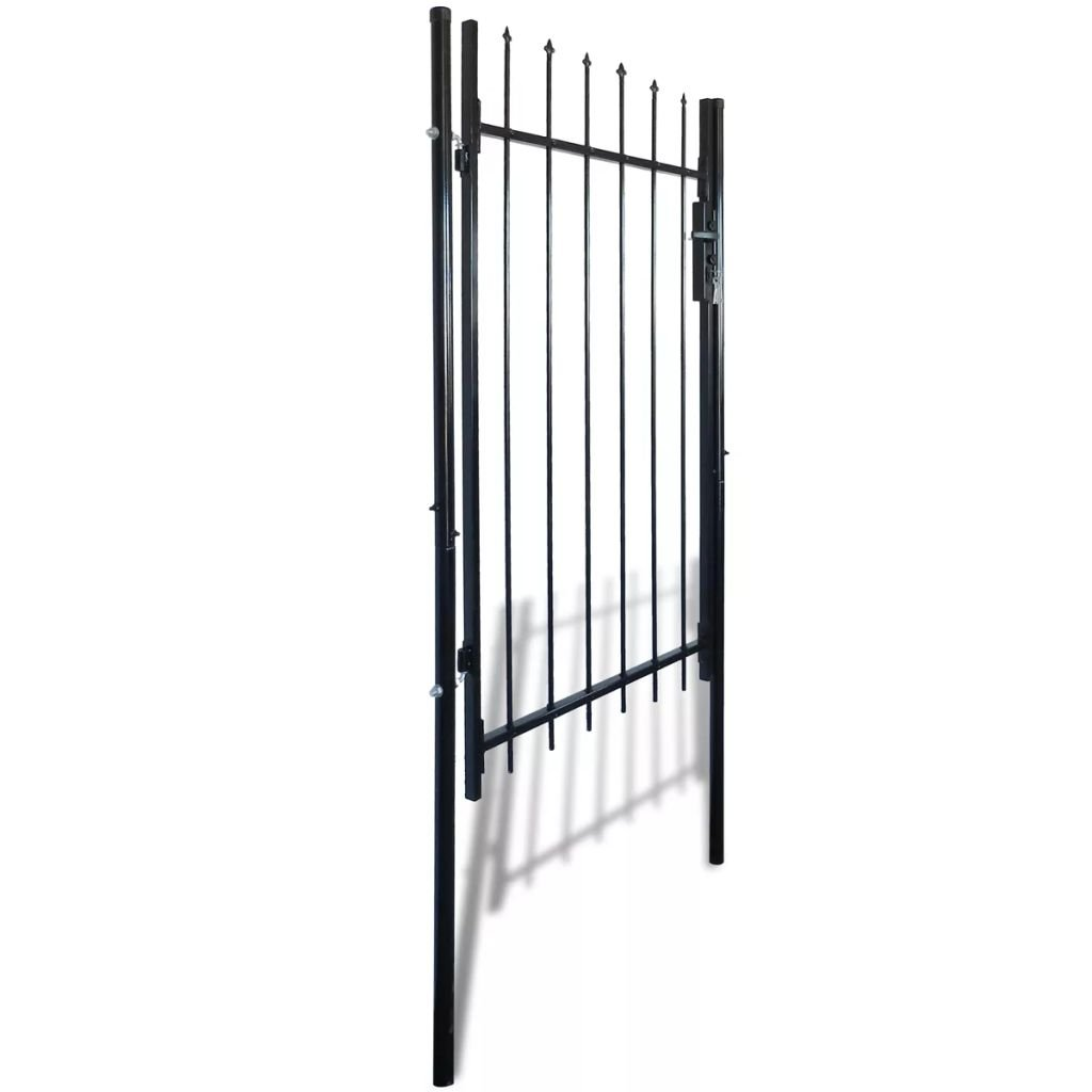 vidaXL Single Swing Garden Gate Entry Door Fence Steel Gate w/Spear Top 39''W x 67''H by vidaXL (Image #2)