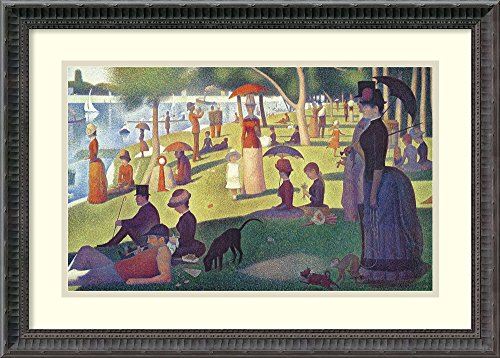 Framed Art Print, 'Sunday Afternoon on the Island of La Grande Jatte, 1884-1886' by Georges Seurat: Outer Size 24 x 17