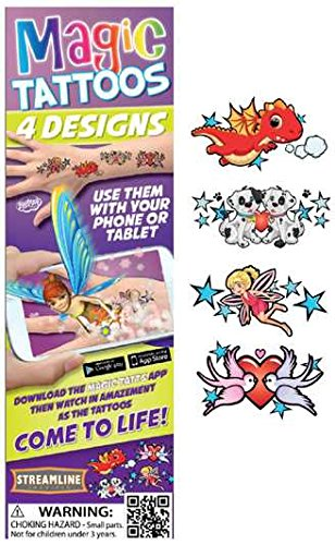 Streamline Magic Tattoos- Come to Life! (4 Designs per package) (Fairy (MTT502))