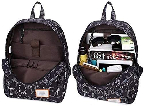 Color : G M-hwbb Backpack Men and Women Computer Bag Backpack Korean College Wind Campus Backpack Travel Bag Leisure School Bag