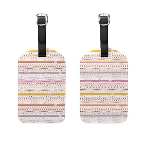 Leather Luggage Tags, Ace Laces Shoe Shoes (1) Bag Tags for Travel Bag Suitcase, 2 Pieces Privacy Cover ()