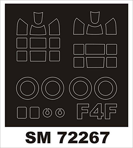 Montex Mini Mask 1:72 F4F-4 Wildcat for Airfix Kit Spraying Stencil #SM72267