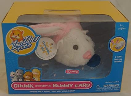 Amazon Com Zhu Zhu Pets Hamster Toy Chunk With Clipon Bunny Ears Toys Games