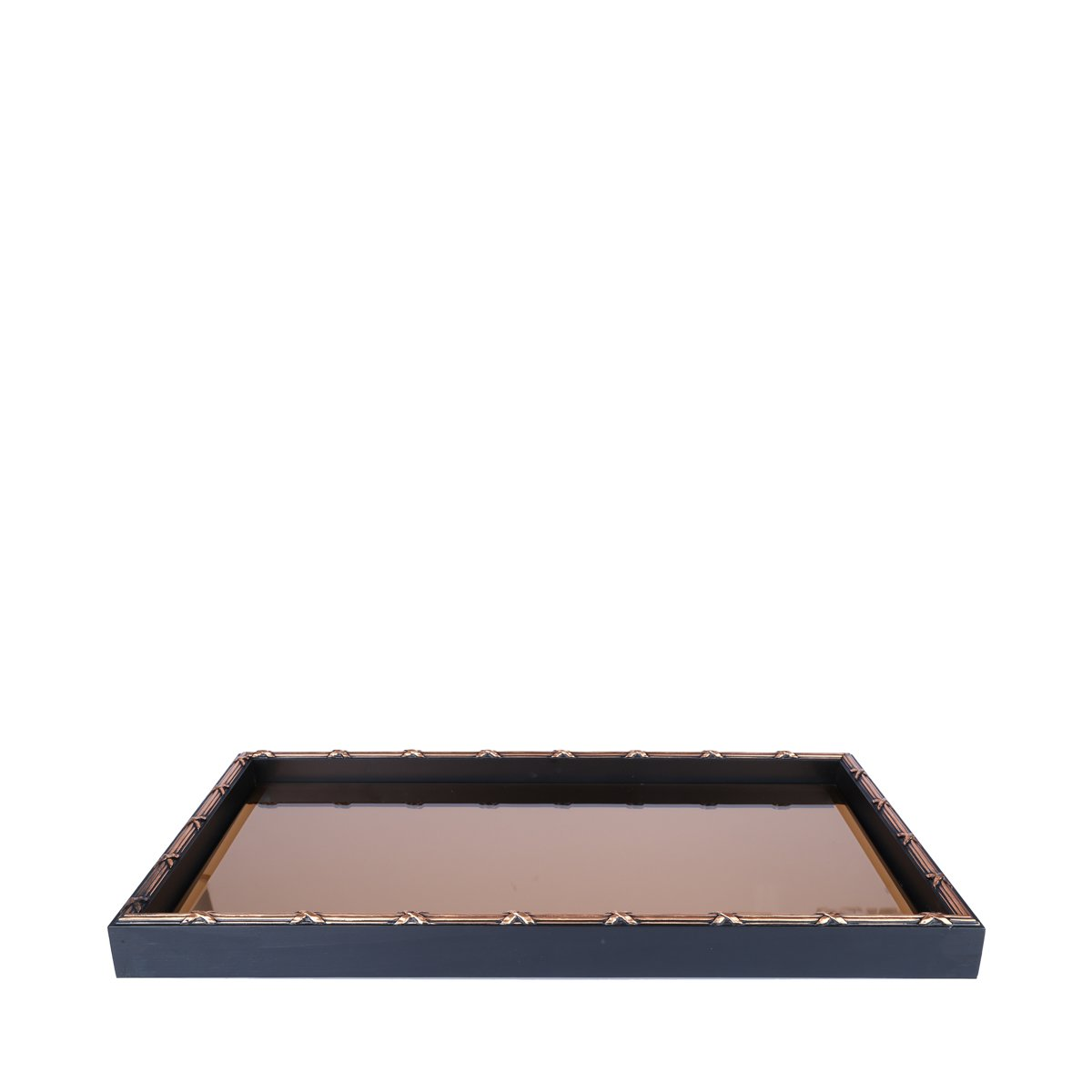 Woodart Croisé Wooden Serving Tray with Handles (Brown, 19x11) by Wood Art (Image #1)