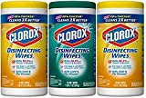 Clorox Disinfecting Wipes Value Pack, Crisp Lemon and Fresh Scent - 3 Pack - 75 Each (.3 Pack(225 Count))