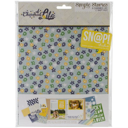 Simple Stories Snapt Double-Sided Journal Pages, 6 by 8-Inch, A Charmed Life, 12 Per Package (Life Stories Simple Charmed)