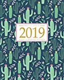 img - for 2019 Planner Weekly And Monthly: Calendar Schedule + Organizer | Inspirational Quotes And Fancy Cactus Cover | January 2019 through December 2019 book / textbook / text book