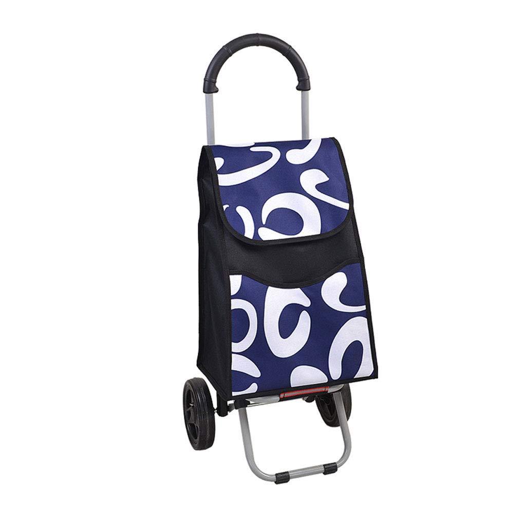 ショッピングカート ショッピングトロリー 折り畳み式トロリー ショッピングバッグ 荷物カート トラベルトロリー トロリースーツケース 食料雑貨品カート B07K5B9RB4