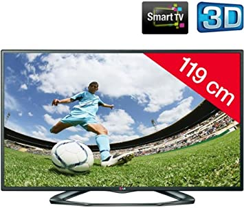 LG 47LA6208 - Televisor LED 3D Smart TV + Soporte Mural Fijo Negro: Amazon.es: Electrónica