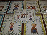 9 Laminated Class Rules Teacher Classroom Signs. 8.5 inches x 11 inches. Class Organization Charts.