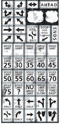Reminisce - Road Signs Stickers - Speed Limit