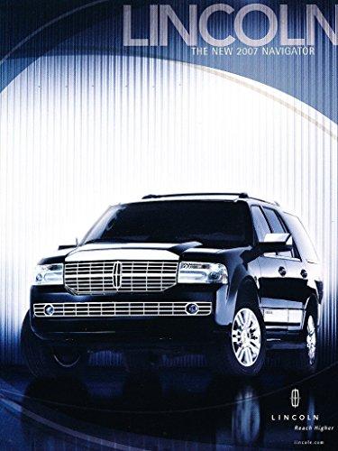 2007 Lincoln Navigator Spec 1-page Original Car Dealer Sales Brochure Card