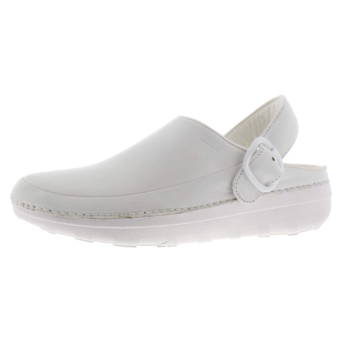 FITFLOP Men's Gogh PRO in Leather Medical Professional Shoe, Urban White, 13 M US by FITFLOP