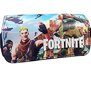 game Fortnite pencil case boy student pencil case Fortnite pattern pencil bag fortnite stationery box canvas Fortnite pattern stationery storage bag