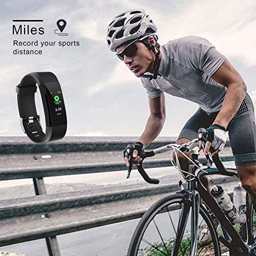 Meanwell High-End-Fitness-Tracker,wasserdichte IP67-Fitnessuhr mit Herzfrequenzmesser,Schrittzähler,Schlafmonitor,Health Activity Tracker als Schrittzähleruhr für Kinder Frauen Männer
