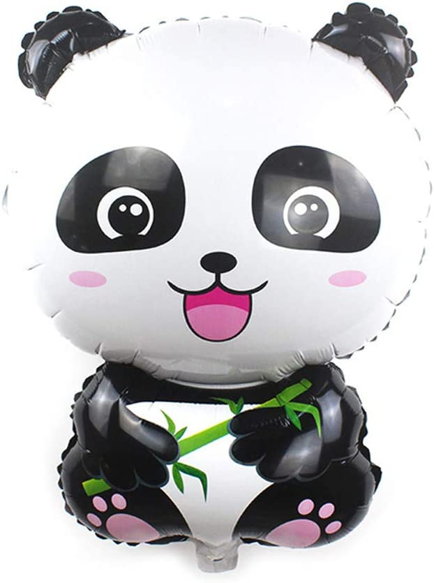Panda Balloons 27.5 x 19 inches Giant Zoo Animal Balloons Kit for Jungle Safari Animals Theme Birthday Party Decorations Kids Gift Birthday Party Décor, Pack of 5