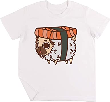 Puglie Sushi Niños Chicos Chicas Unisexo Camiseta Blanco ...