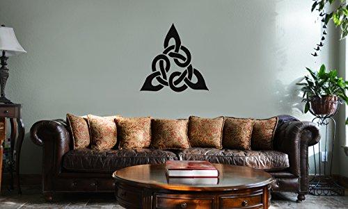 DECAL SERPENT Triangular Celtic Cross Knot Vinyl Wall Mural Decal Home Decor Sticker ()