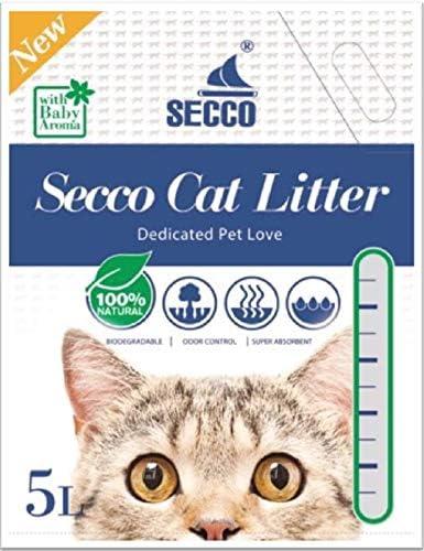 Secco - Arena para Gatos (Gel de sílice, 5 L, no tóxica ...