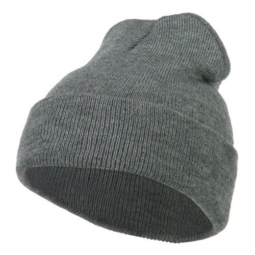 Super Stretch Knit Watch Cap Beanie - Light Grey OSFM