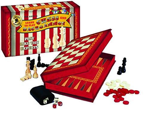 Robert Frederick Retro Games Learn To Play Chess and Backgammon Set ()