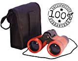 Toy Binoculars for Kids in Carrying Case | For 3 to 6 yr | Great Birthday Gift for Boys Girls Baby Toddlers Twins for Party Pretend Play Outdoors and Travel Trips | First Children`s STEM Present