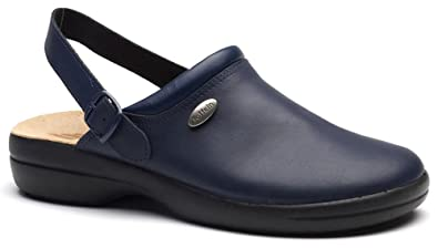 World Of Clogs.Com Toffeln Klima Flexible 0165 Lavable Medical Théâtre' Clogs ' - Sabots - Bleu Marine - Bleu Marine, 4 UK