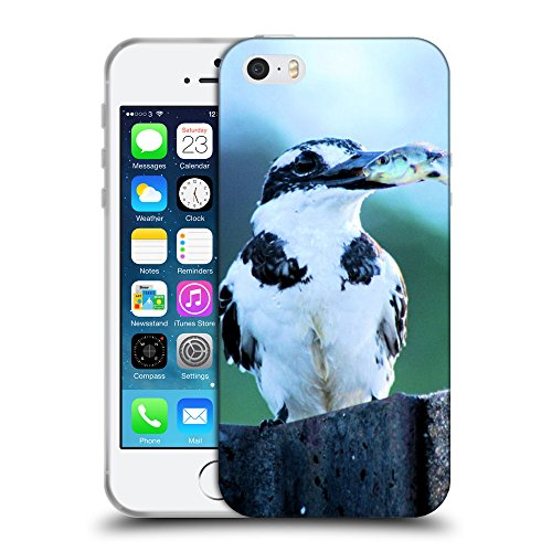Super Galaxy Schutz Hülle TPU Case Schutzhülle Silikon Tasche Dünn Transparent // V00003490 Eisvögel Angeln // Apple iPhone 5 5S 5G SE