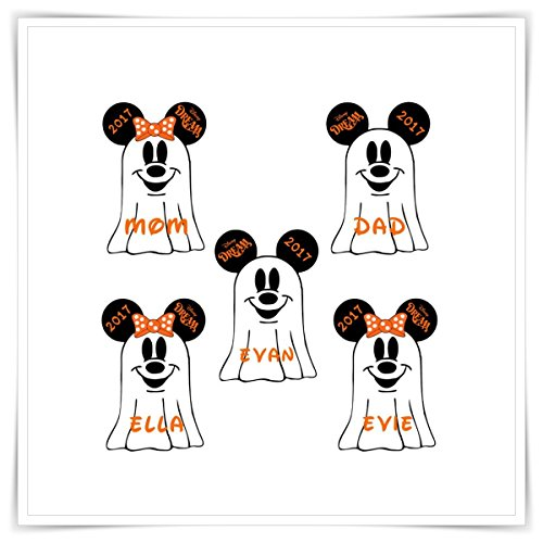 PERSONALIZED Disney Cruise Ghost Magnet. Halloween Ghost Minnie Mickey Head. Handmade Halloween Disney Cruise (Halloween Cruises)