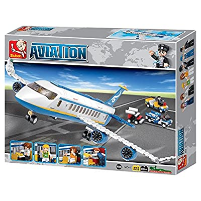 Sluban Passenger Plane Aviation Building Kit (463 Pieces): Toys & Games