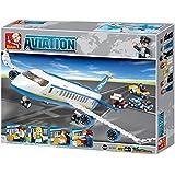 Sluban M38-B0366 Aviation Air Bus Oversized Airplane Building Block Set, Multi Colour