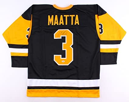 31b2bf223 Image Unavailable. Image not available for. Color  Olli Maatta Autographed  Signed Penguins Jersey ...